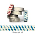 Blue Stripe Paper Tape