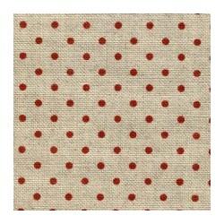 Lino Belfast Color Flax Lunares Rojos (5391) - 12,6 Hilos (32 counts)