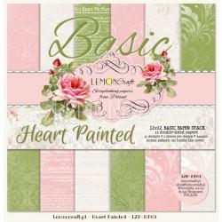 BASIC Heart Painted - Lemon Craft Stack 12x12