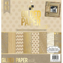 Gilded Paper Stack DCWV 12x12
