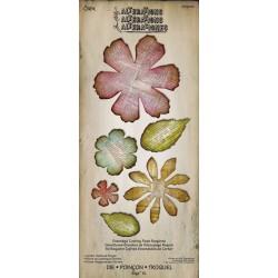 Troquel XL Bigz - Tim Holtz - Alterations Collection - Jumbo Tattered Florals Tamaño XL