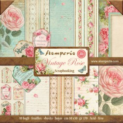 Vintage Rose - Stampería Stack 12x12