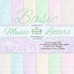 BASIC Music Letters - Lemon Craft Stack 12x12