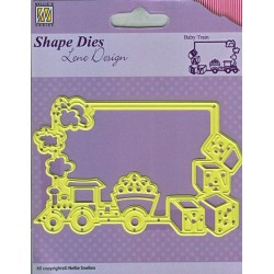 Baby Train - Shape Dies - Lene Design - Nellie Snellen