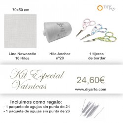 Kit Vainicas - Color Flax (Blanco Roto)