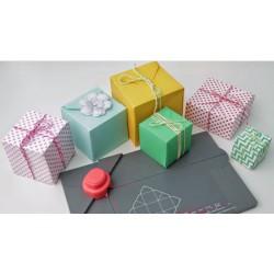 Gift Box Punch Board Rojo