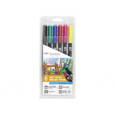 Colores Primarios - Set de 6 rotuladores - Dual Brush Tombow