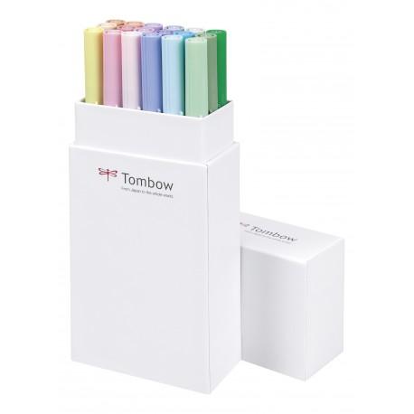 Colores Pastel - Set de 18 rotuladores - Dual Brush Tombow
