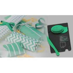 Pillow Box Punch Board Verde