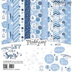 Let It Snow - ModaScrap 12 x 12