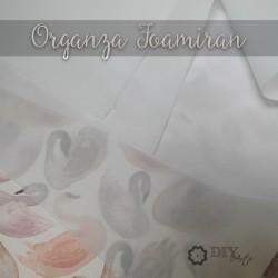 01 White - Organza Foamiran (Chiffon)