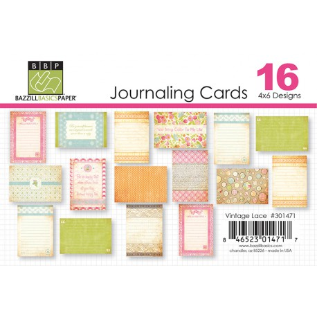 Journaling Cards Arsenic & lace 4×6