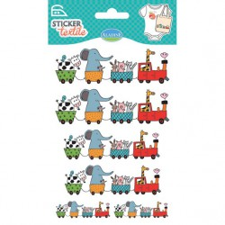 Sticker Textile - Train des animaux