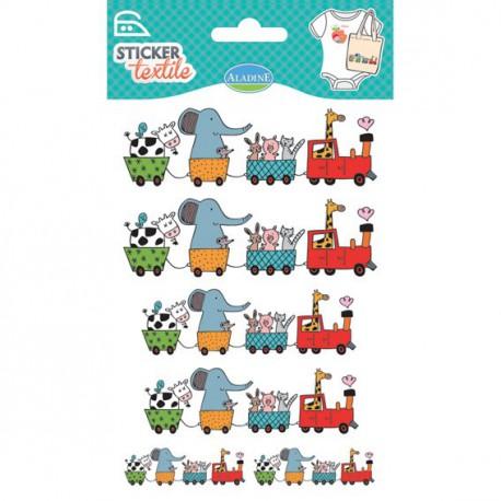 Sticker Textile - Train des animaux