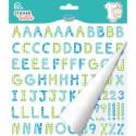 Sticker Textile - Alphabet vichy bleu