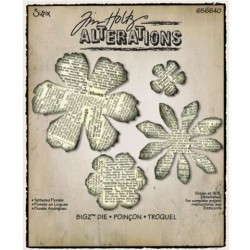 Troquel Bigz - Tim Holtz - Alterations Collection - Tattered Florals