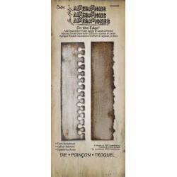Troquel Bigz - Tim Holtz - Alterations Collection - On the Edge Die - Torn Notebook
