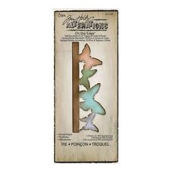 Troquel Bigz - Tim Holtz - Alterations Collection - On the Edge Die - Butterflight