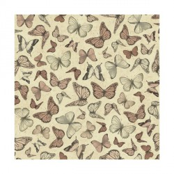 Tela Mirabelle (mariposas en tono terracota)