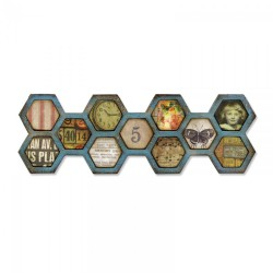 Troquel Bigz - Tim Holtz - Alterations Collection - Frameworks Honeycomb