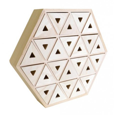 Calendario de Adviento de madera - Hexagonal