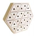 Calendario de Adviento de madera - Hexagonal