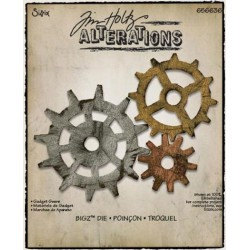 Troquel Bigz - Tim Holtz - Alterations Collection - Gadget Gears 1