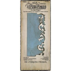 Troquel Bigz - Tim Holtz - Alterations Collection - On the Edge Die - Scrollwork