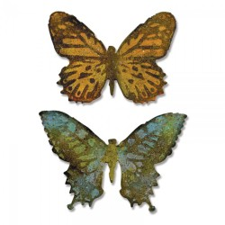 Troquel Bigz y carpeta textura - Tim Holtz - Alterations Collection - Butterfly Duo