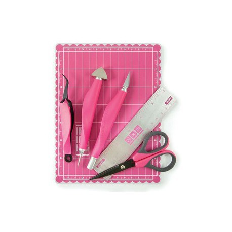 Mini tool kit We R Memory Keepers - Color rosa