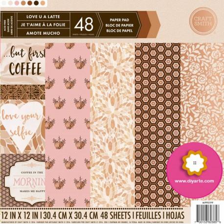 "Love U A Latte - Craft Smith Stack 12""x12"""