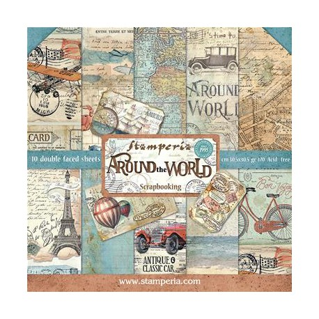Around the World - Stampería Stack 12x12