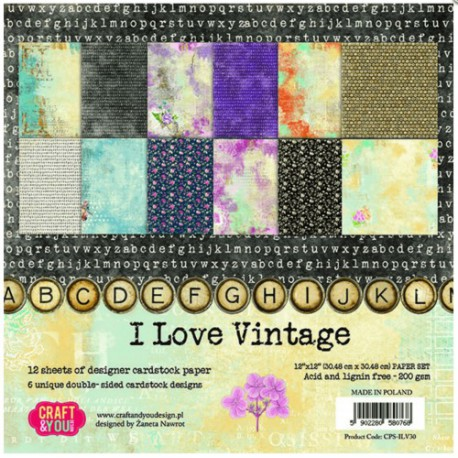 I Love Vintage - Craft & You Stack 12x12