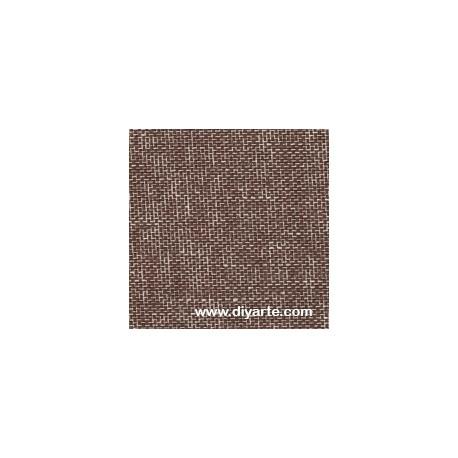 Tela de encuadernacion (55×50 cm) - Color Lino marrón oscuro