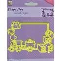 Baby Train - Shape Dies - Lene Design - Nellie Snellen