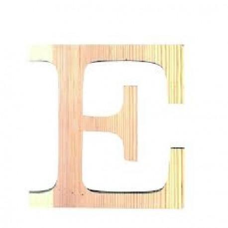 Letra de Madera Artemio - 19 cm - E