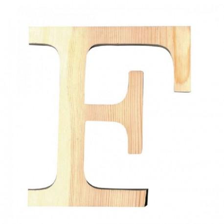 Letra de Madera Artemio - 19 cm - F