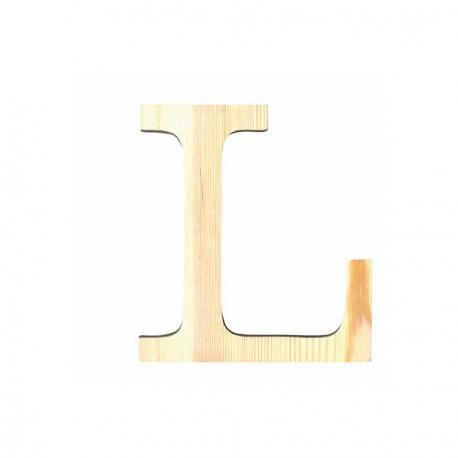 Letra de Madera Artemio - 19 cm - L