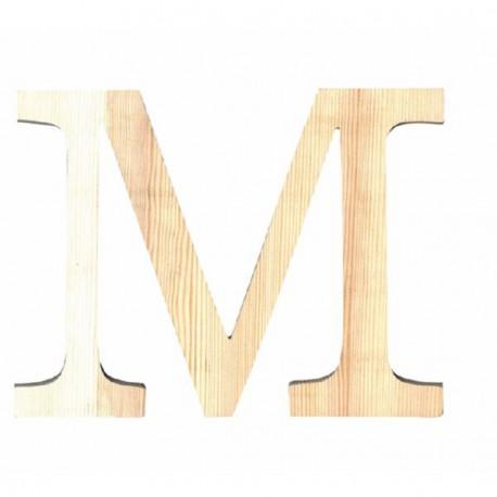 Letra de Madera Artemio - 19 cm - M