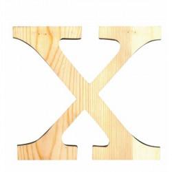 Letra de Madera Artemio - 19 cm - X