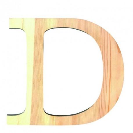 Letra de Madera Artemio - 11,5 cm - D