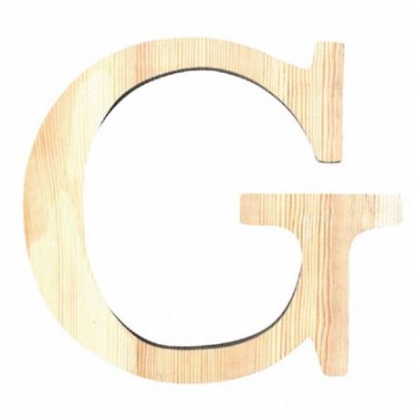 Letra de Madera Artemio - 11,5 cm - G