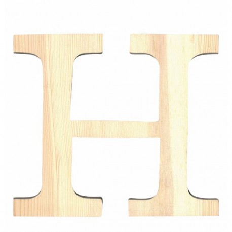 Letra de Madera Artemio - 11,5 cm - H