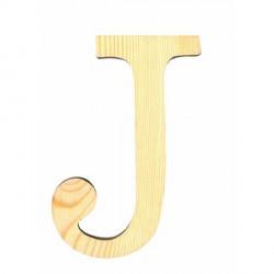 Letra de Madera Artemio - 11,5 cm - J