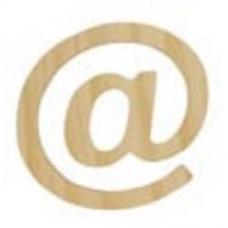 Letra de Madera Artemio - 11,5 cm - @