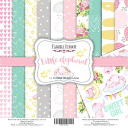 "Little elephant - Fabrika Decoru Stack 12""x12"""