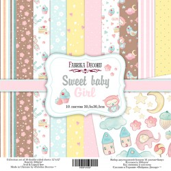 "Sweet Baby Girl - Fabrika Decoru Stack 12""x12"""