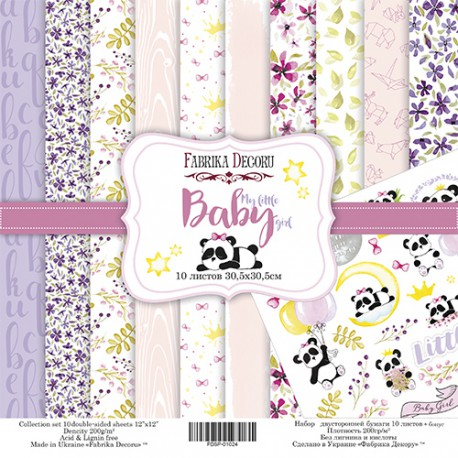 "My little baby girl - Fabrika Decoru Stack 12""x12"""