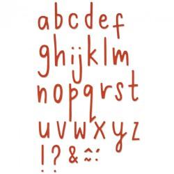 Sizzix Thinlits - Letras Delicadas