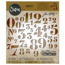 Troquel Thinlits - Tim Holtz - Stencil Números